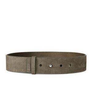AllSaints Mimosa Croc Waist Belt
